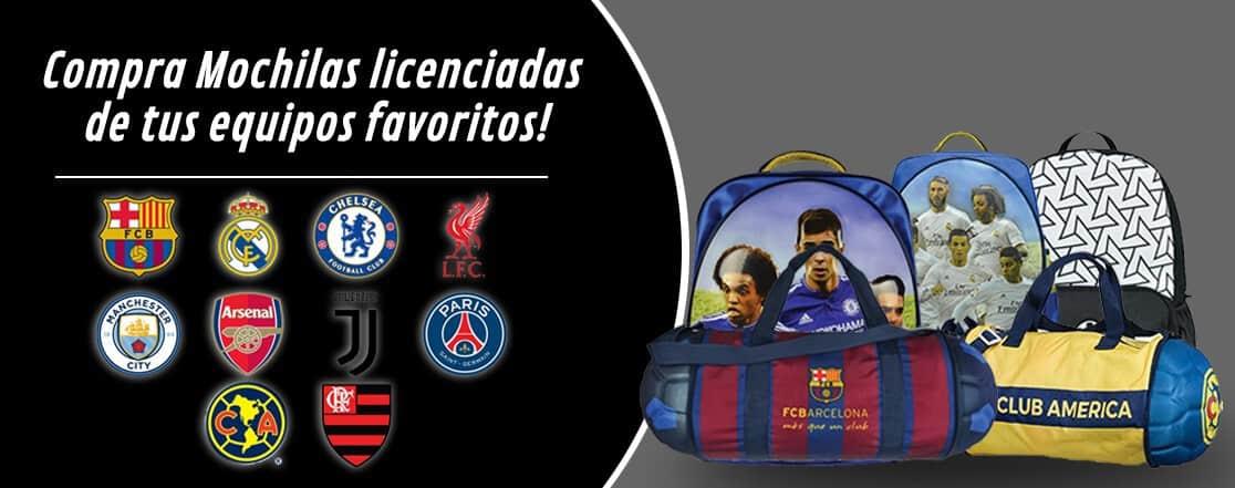 Mochilas, Neveras, Sticktes y Tatuaje de tu equipo de futbol preferido